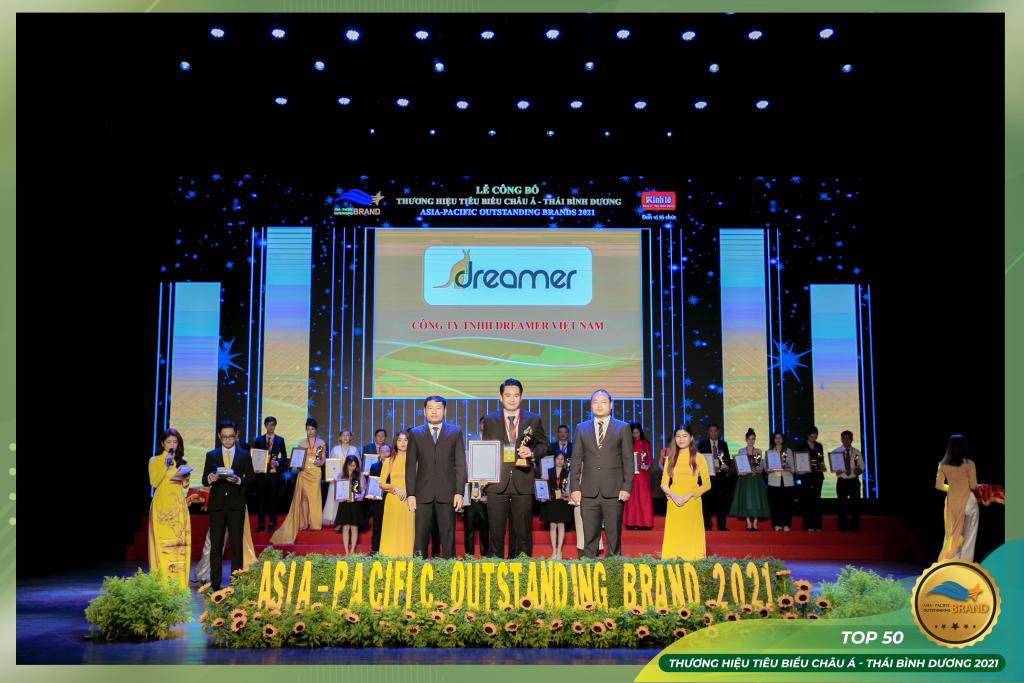 dreamer nhận dannh hiệu top 50 thuong hieu chau a thai binh duong